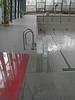 Schwimmbad mit Mikrobeschichtung
