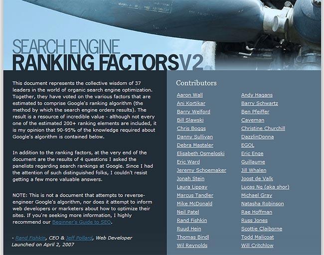 Studie zu Suchmaschinen-Ranking-Faktoren