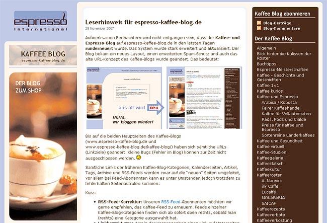 Der neue Kaffee-Blog