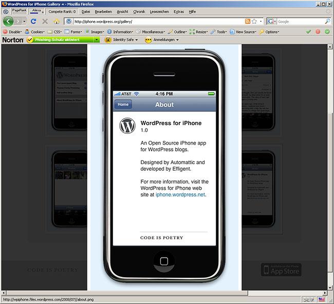 WordPress for iPhone (Gallery Photos)