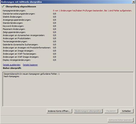 AdWords Editor Bug 9.8.1